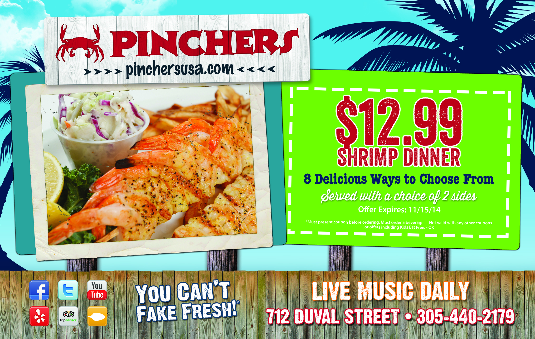Pinchers coupons